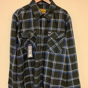 DIXXON Flannel - Button - Black/Blue